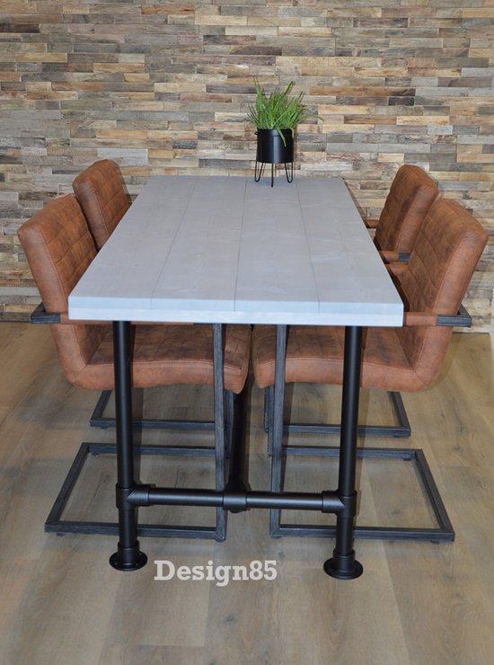 Steigerhout Steigerbuis Tafel : Bol.com design85 steigerbuis tafel zwart