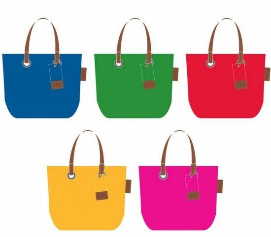 90a51fc97b0 bol.com | Zebra Trends - Natural Bag Vilt Color Rood