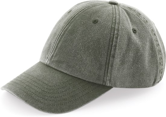Senvi Low Profile Vintage Cap Vintage Olive  (One size fits all)