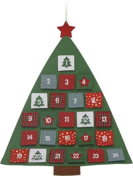 Adventkalender kerstboom groen Valentinaa