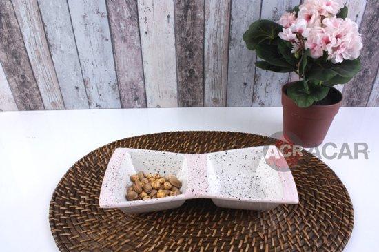 Acar Snack- & Tapasschaal - Porselein - 2 vaks