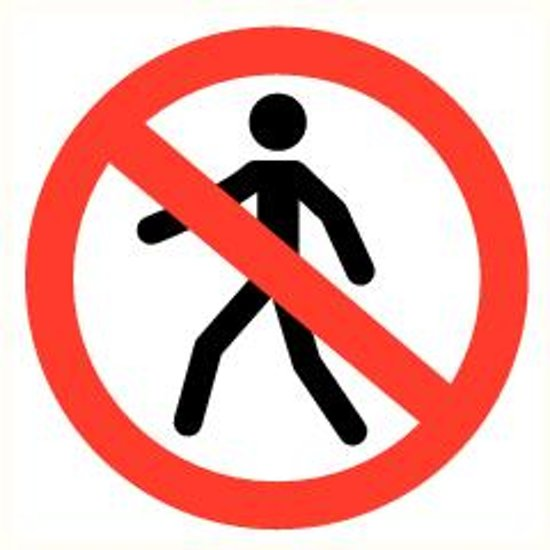 ATV Safety Verboden voor voetgangers 210mm Vinyl 356