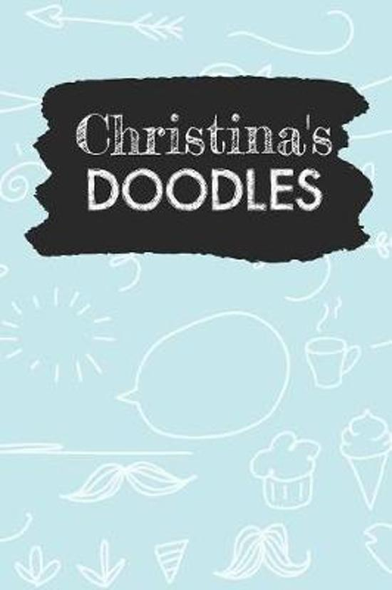 Christina's Doodles: Personalized Teal Doodle Notebook Journal (6 x 9 inch) with 110 dot grid pages inside.