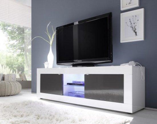 Dichte Tv Kast : Bol benvenuto design modena tv meubel big hg wit antraciet