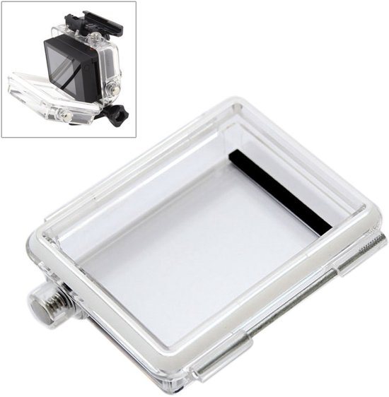 ST-174 Waterdicht Backdoor voor GoPro Hero 4 / 3+ Bacpac LCD-scherm (transparant)