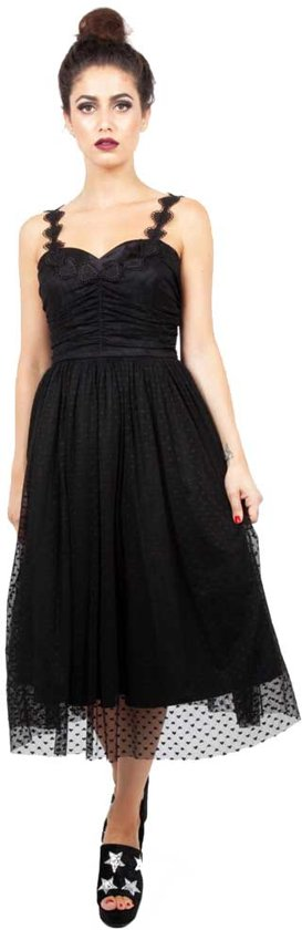 2f2757182f5684 Jawbreaker Lange gala jurk -XL- Carrie dark heart Zwart