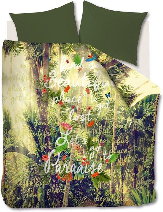Beddinghouse Studio Paradise - Dekbedovertrek - Groen - eenpersoons - 140x200/220 cm