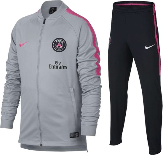 4a34b6fa993 bol.com | Nike Dry Paris Saint Germain Trainingspak Kinderen - grijs ...