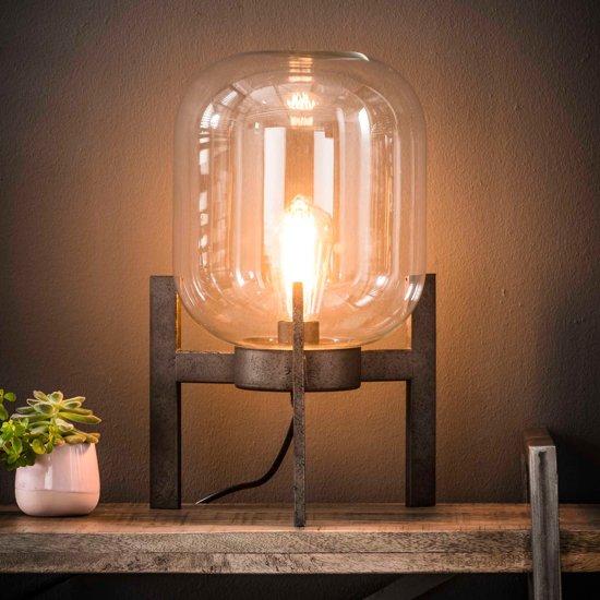 Meer Design Tafellamp glas support / Oud zilver