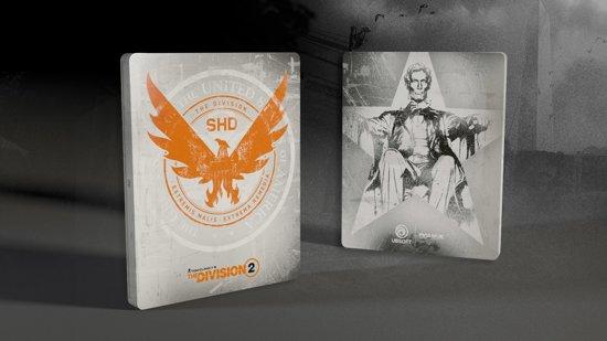 Cover van de game The Division 2 Steelbook