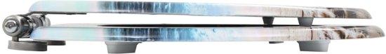 vidaXL Toiletbril met soft-close deksel MDF schelpen print