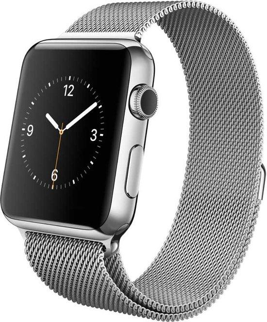 Milanees Bandje met Magneetsluiting voor Apple Watch - Zilver - 42mm