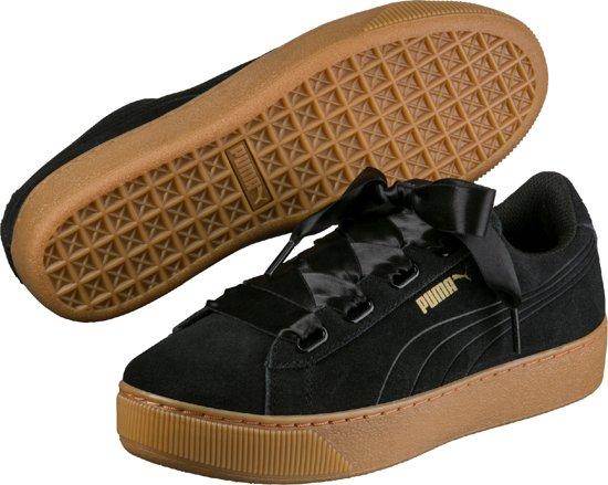 9b1e386856c PUMA Sneakers Vikky Platform Ribbon 364979 01 - Dames - Black-Black - Maat  6.5