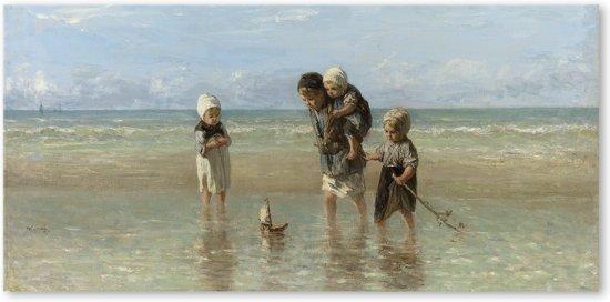 Canvas Schilderij Kinderen der zee - Jozef Israëls - Rijksmuseum