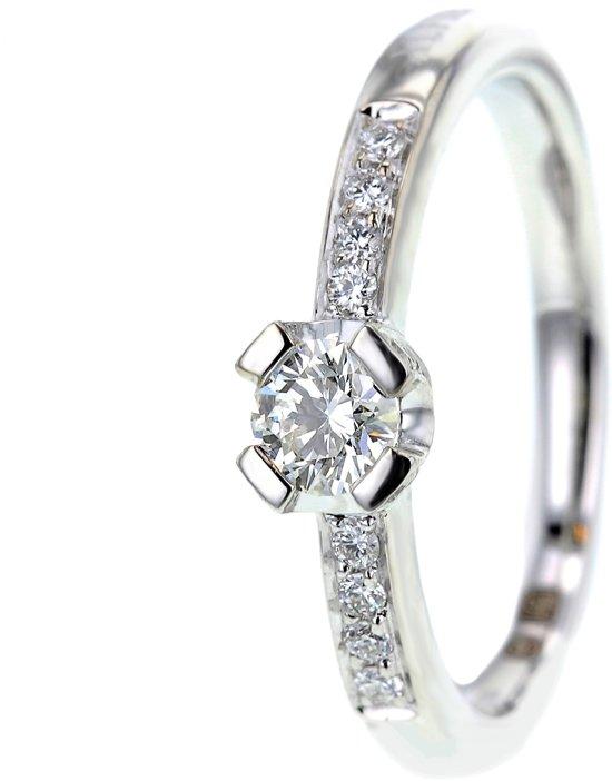 20065204 - Alfieri & St. John Damesring witgoud met diamant
