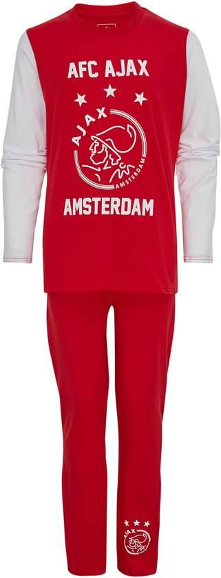Ajax Pyjama Logo - Rood/Wit - Maat 128