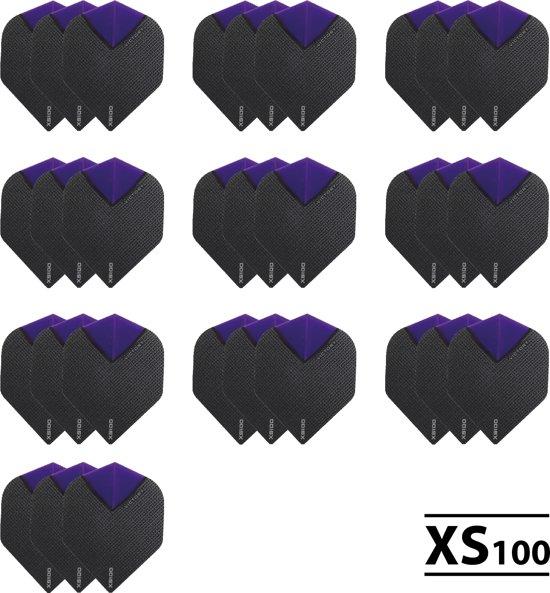 10 Sets (30 stuks) XS100 Skylight flights Multipack - Paars