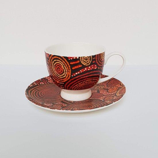 Design kop en schotel - Teddy Jakamarra Gibson - Aboriginal collectie
