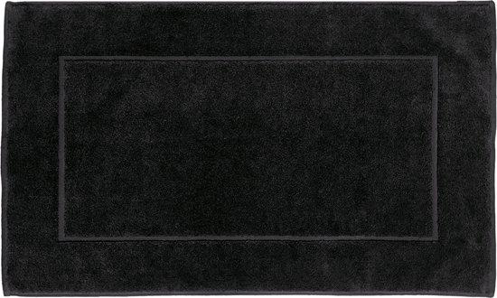 AKOUAREL Sensoft – Badkamertapijt  Zwart – 60 x 100 cm – 100% zacht gekamd katoen – 1100 gr/m²
