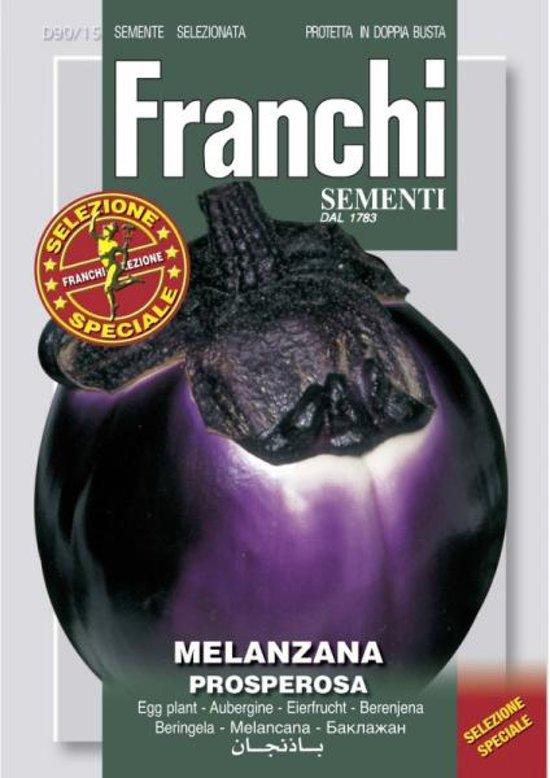 Melanzana Prosperosa - ronde aubergine - set van 4 stuks
