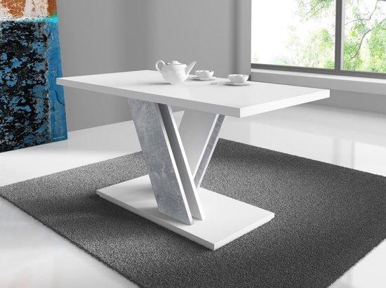 Salontafel Van Beton : Bol meubella salontafel bari wit beton