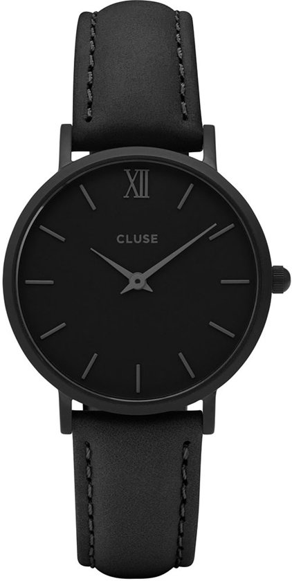 Cluse Minuit Leather Horloge