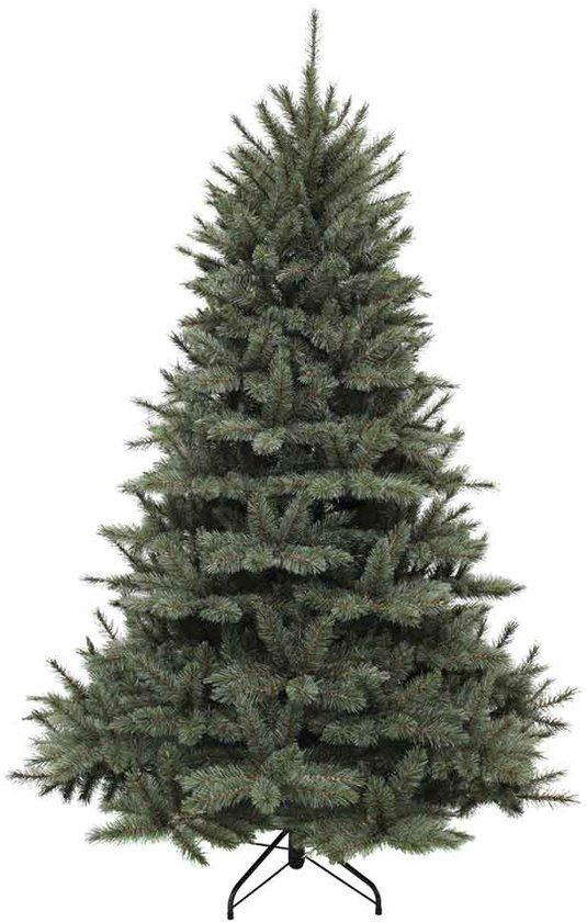 Triumph tree kunstkerstboom forest frosted maat in cm: 185 x 130 newgrowth blue