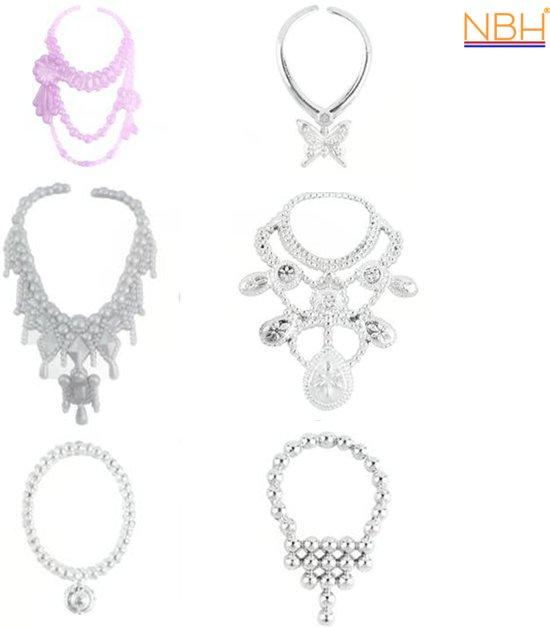 6 verschillende colliers voor de Barbie pop