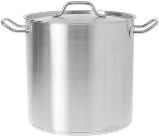 RVS kookpan 50 liter met dubbele bodem