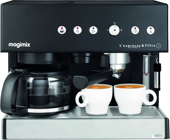 magimix 11422 espresso filtre automatic combinatie espressomachine zwart. Black Bedroom Furniture Sets. Home Design Ideas