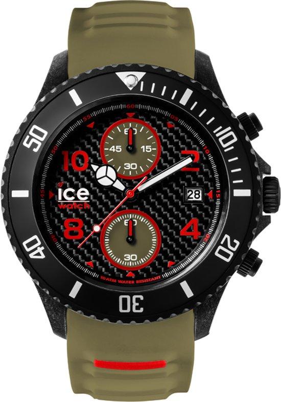 Ice-Watch ICE Carbon IW001318 Horloge - Siliconen - Groen - Ø53 mm