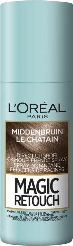 L'Oréal Paris Magic Retouch Uitgroei Camoufleerspray - Middenbruin haar