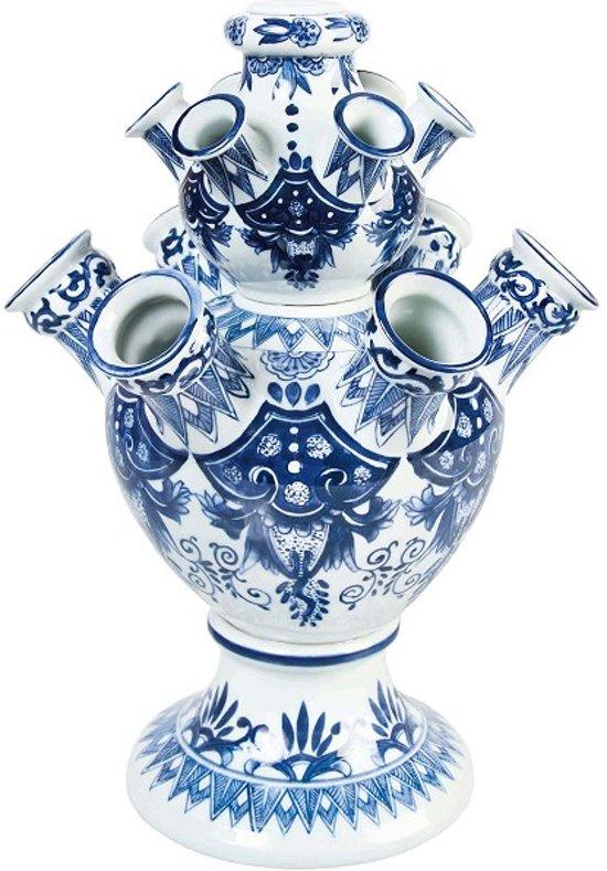 Delfts Blauw Vaas.Tulpenvaas Xl 42 Cm Hoog Tulpen Vaas Grote Vaas Delfts Blauwe Vaas Relatiegeschenk Hollandse Souvenirs Design Vaas Bloemenvaas
