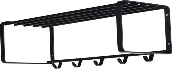 Spinder Design Rex 2 - Wandkapstok - 70 x 28 x 27 cm - Staal - Zwart