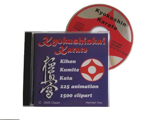 Cd-rom met kyokushinkai cliparts