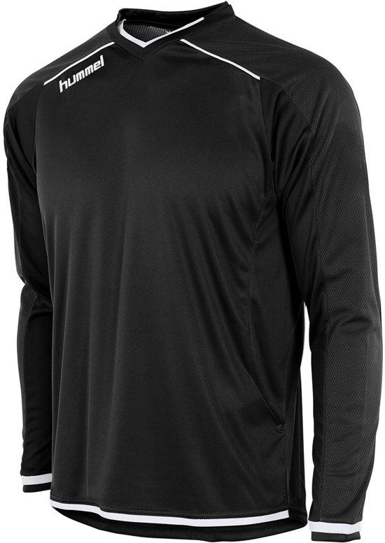 Hummel Leeds Sportshirt performance - Maat XL  - Unisex - zwart/wit