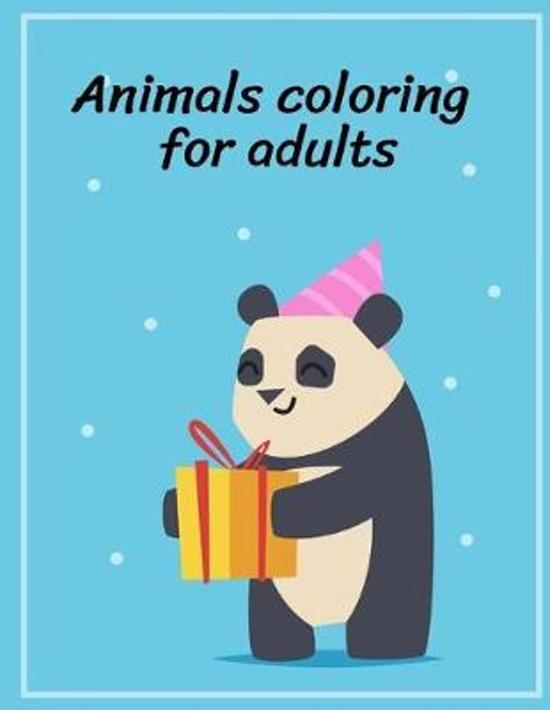 Animals Coloring for Adults: Fun and Cute Coloring Book for Children, Preschool, Kindergarten age 3-5, Relieve Stress