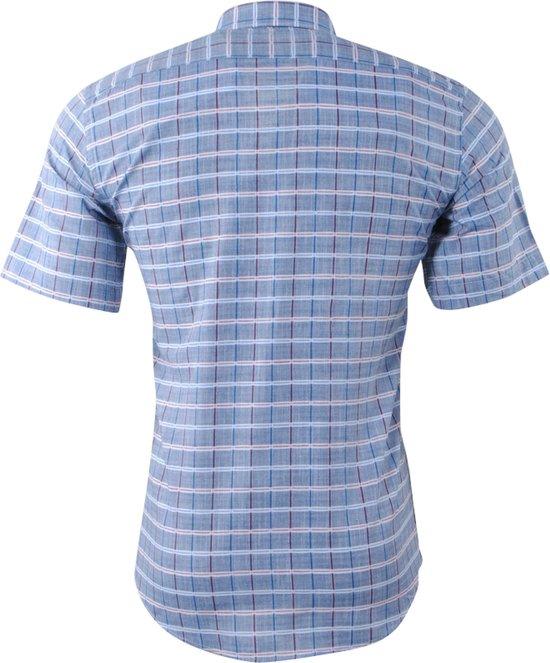 PradzHeren Korte Slim Overhemd Fit Grijs Mouw Geblokt zSVqpUM
