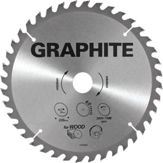 GRAPHITE Cirkelzaagblad 315 mm, 40 tands, Hout