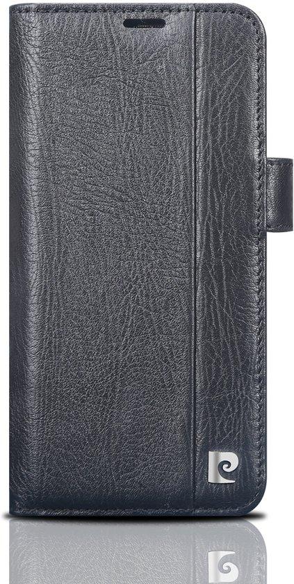 Samsung Galaxy S9 Book Case echt leer van Pierre Cardin - Zwart
