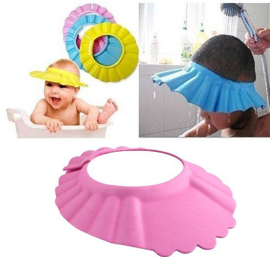 Douchekapje - Douche Shower Cap - Douche Kap - Baby / Kind Haarwas Hulp Kap - Douchecap Roze