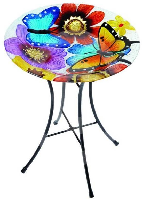 Gardman Vogelbad Vlinder Glas