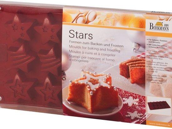 Birkmann Siliconen Bakvorm Stars Kerst - 15 Stuks