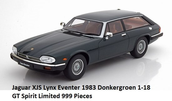Jaguar XJS Lynx Eventer 1983 Donkergroen 1-18 GT Spirit Limited 999 Pieces