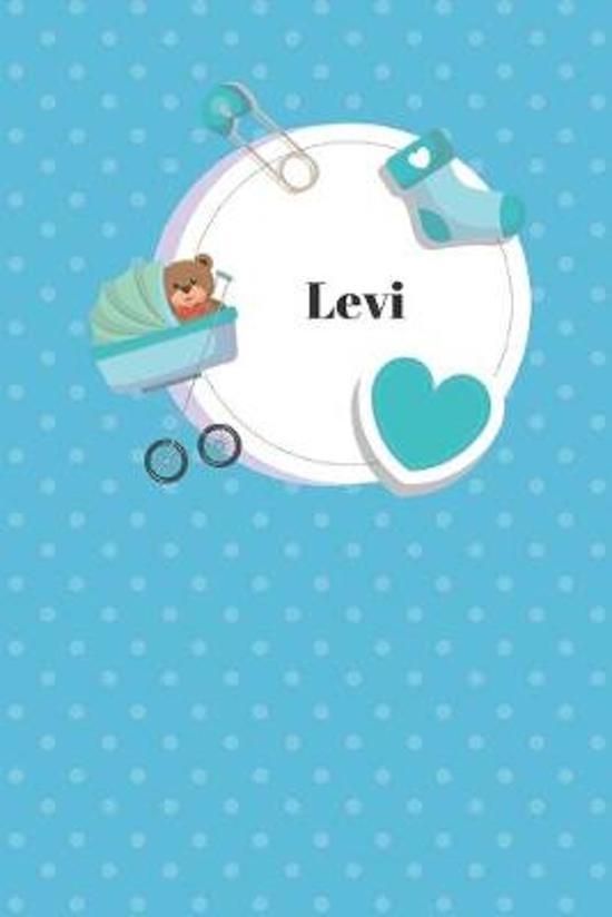 Levi: Liniertes Babytagebuch Notizbuch oder Kinder Notizheft liniert - Eltern Journal f�r M�nner und Frauen mit Linien