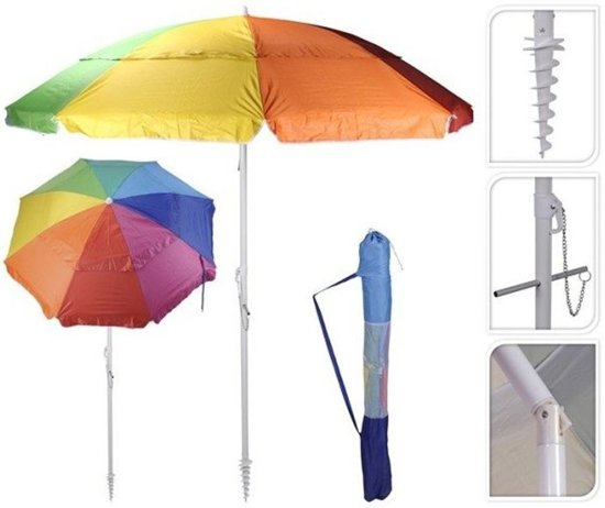 probeach parasol uv protection 220 cm multi color. Black Bedroom Furniture Sets. Home Design Ideas