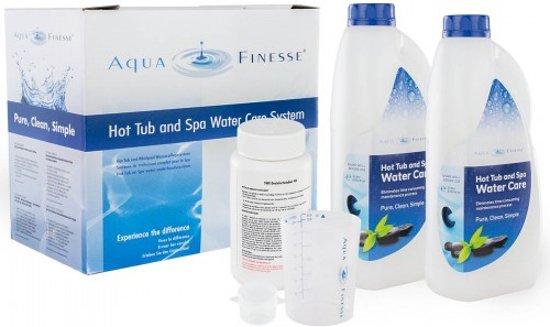 Aquafinesse Spa en Hottub waterbehandelingset met 2 gratis kunststof Gin Tonic glazen