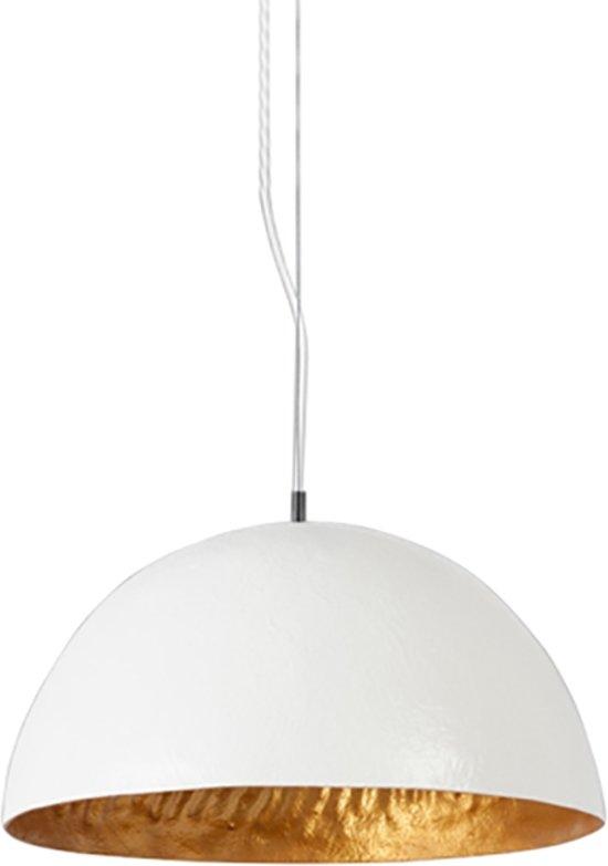 Genoeg bol.com   Mezzo Tondo - Hanglamp - 50 cm - Wit - Goud - ACTIE OP = OP SB41