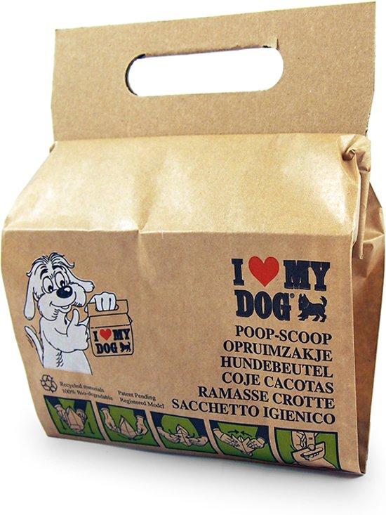I Love My Dog Opruimzakje - Hond - Recyclebaar materiaal - 2 x 10 stuks