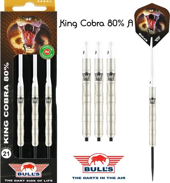 Bull's King Cobra 80% Tungsten 24 gram Steeltip Darts